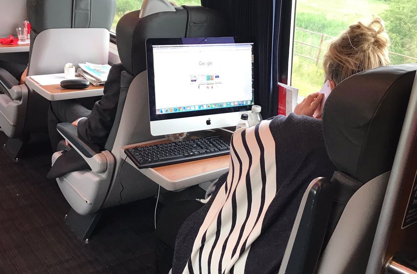Using iMac on a Train