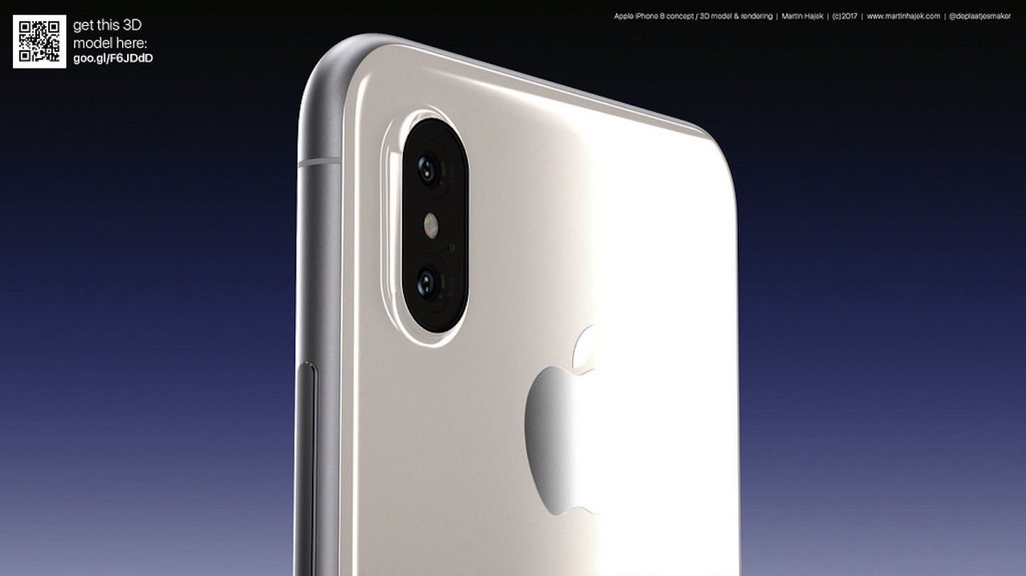 White iPhone 8 Render Concept Martin Hajek