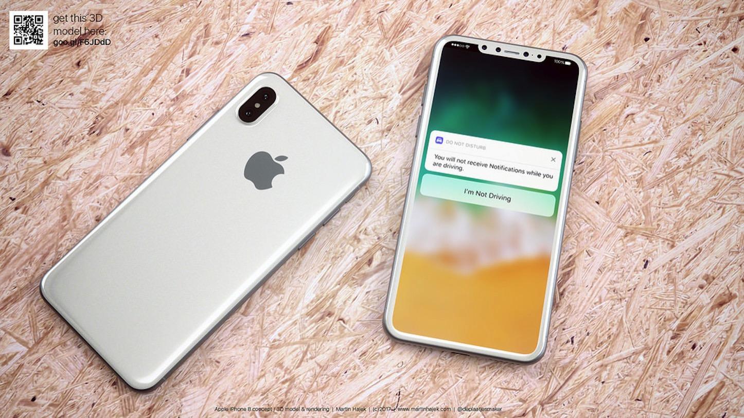 White iPhone 8 Render Concept Martin Hajek