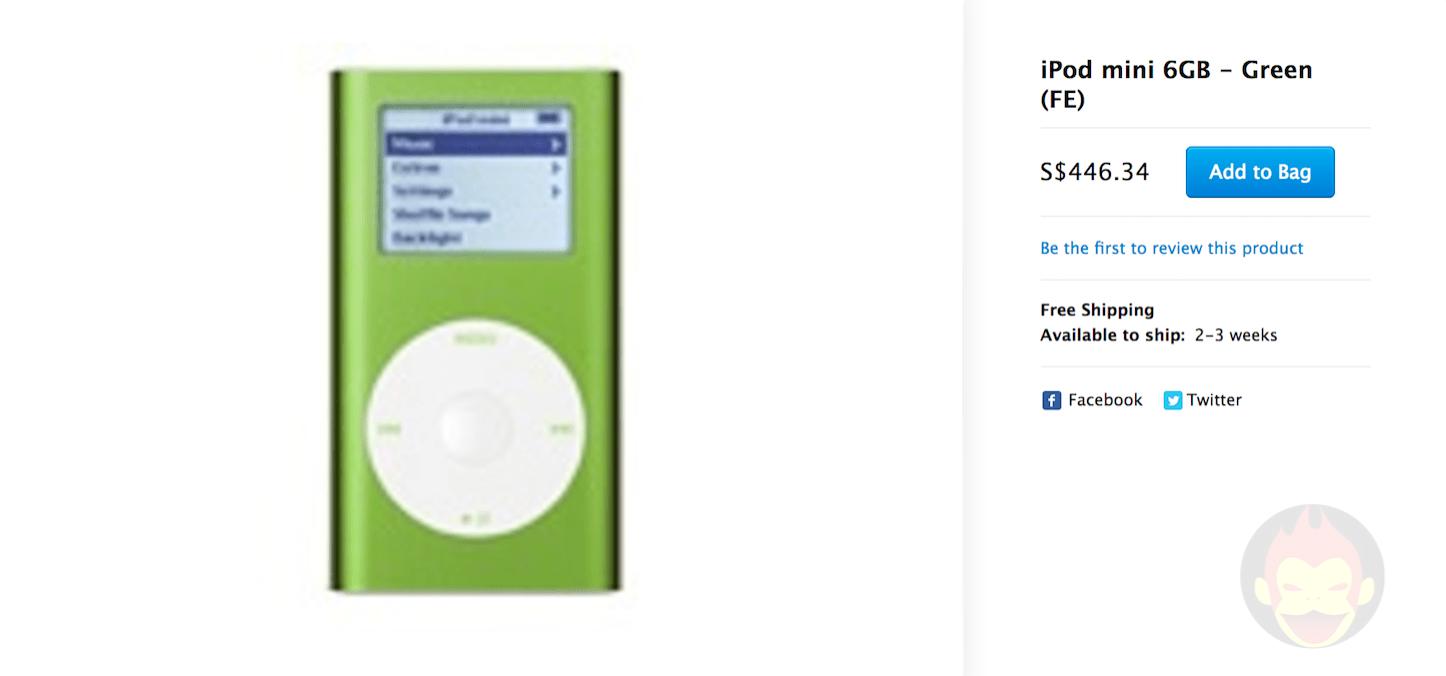Ipod mini 6gb green