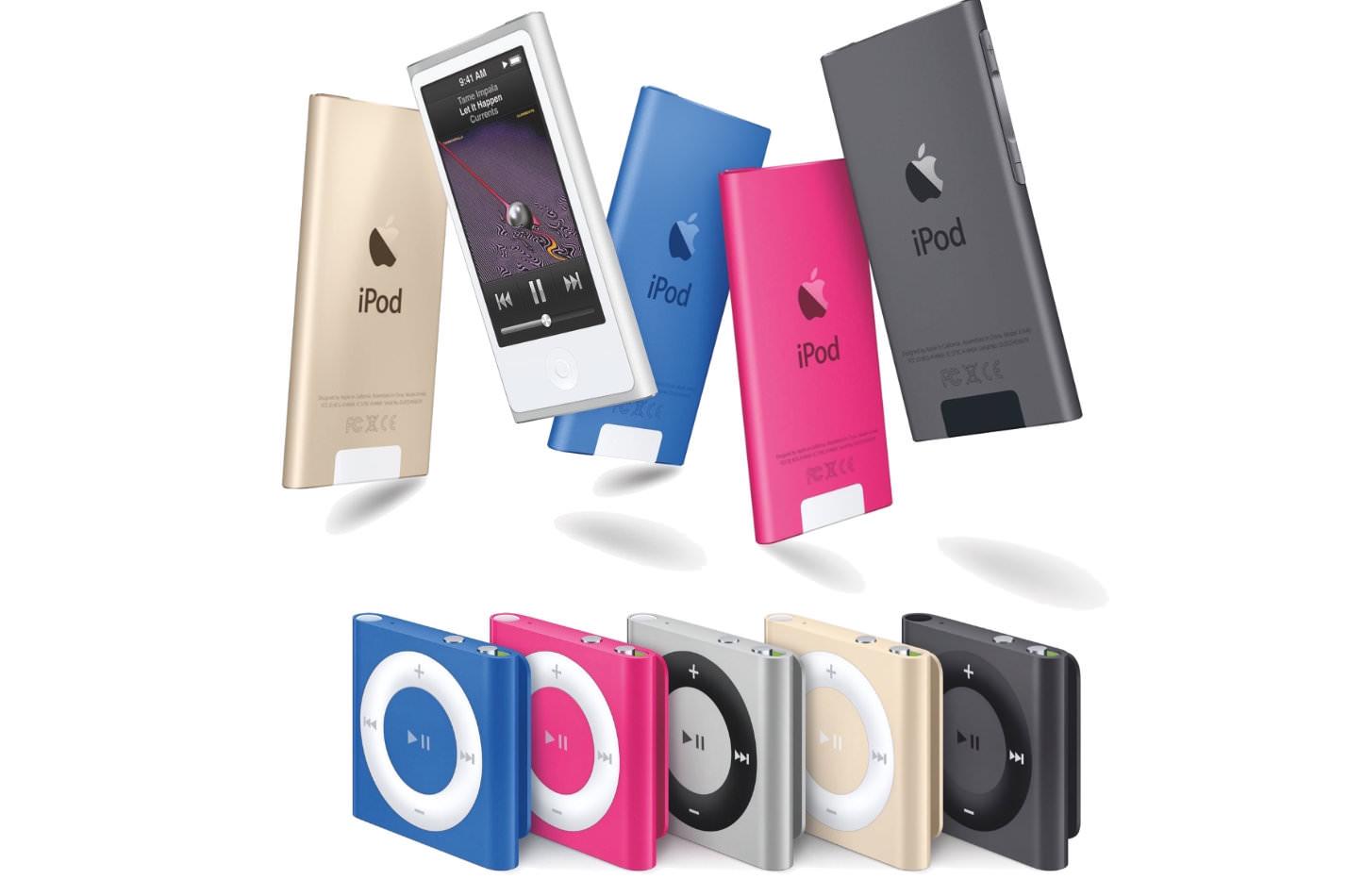 Ipod shuffle and nano