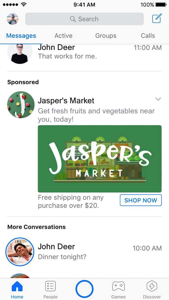 Jasper s messenger ad