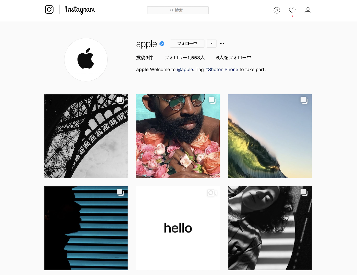 Apple Instagram Accaount
