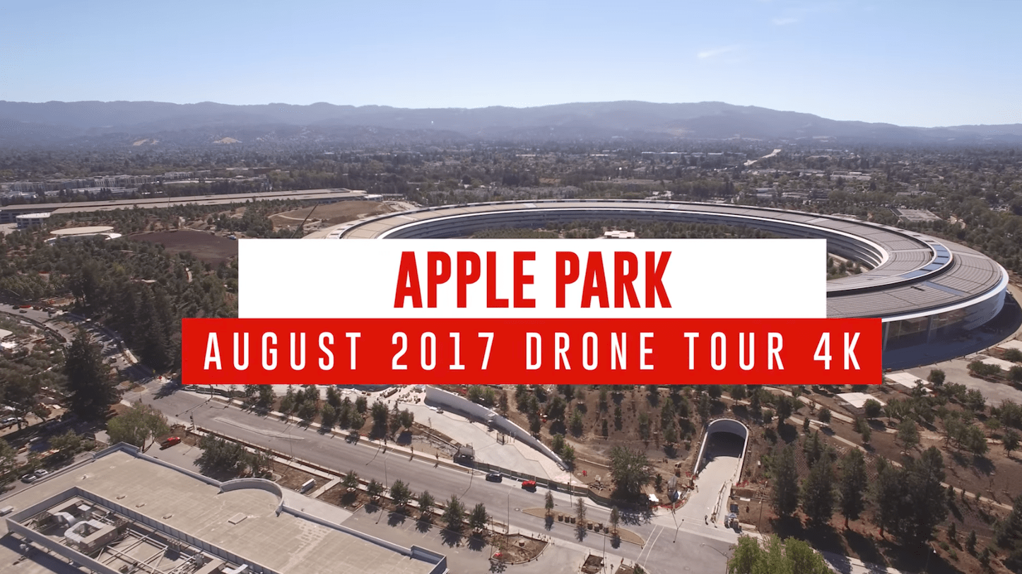 Apple Park Drone Footage 4K August