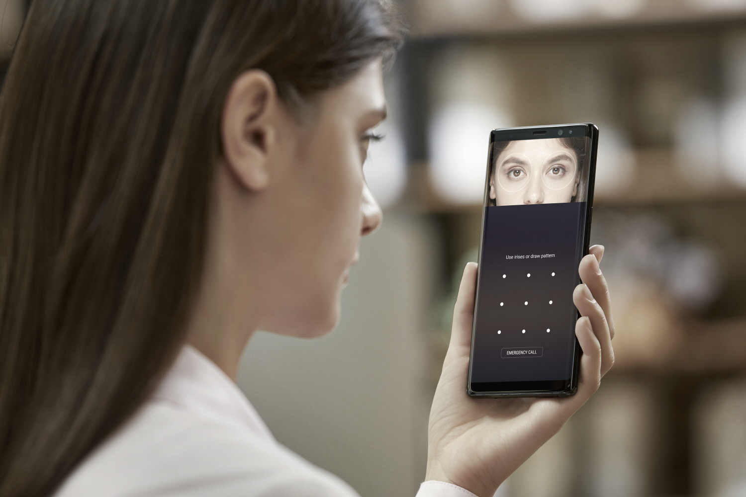 Galaxy Note8 Iris Scanner