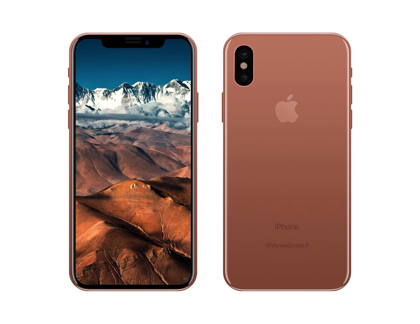 Copper gold iphone 8 pro