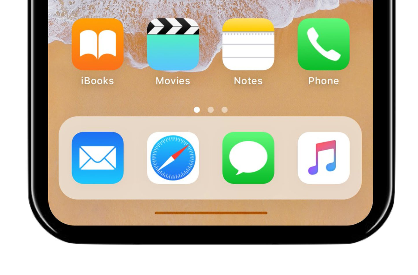 Ios11 iphone8pro thin bar
