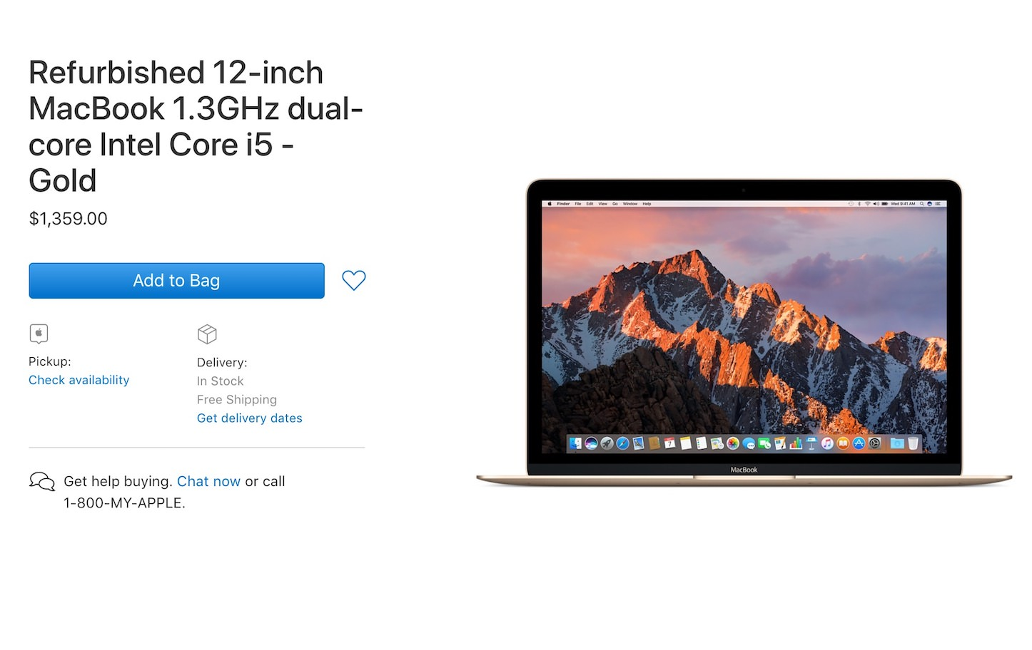 Refurbished MacBook2017