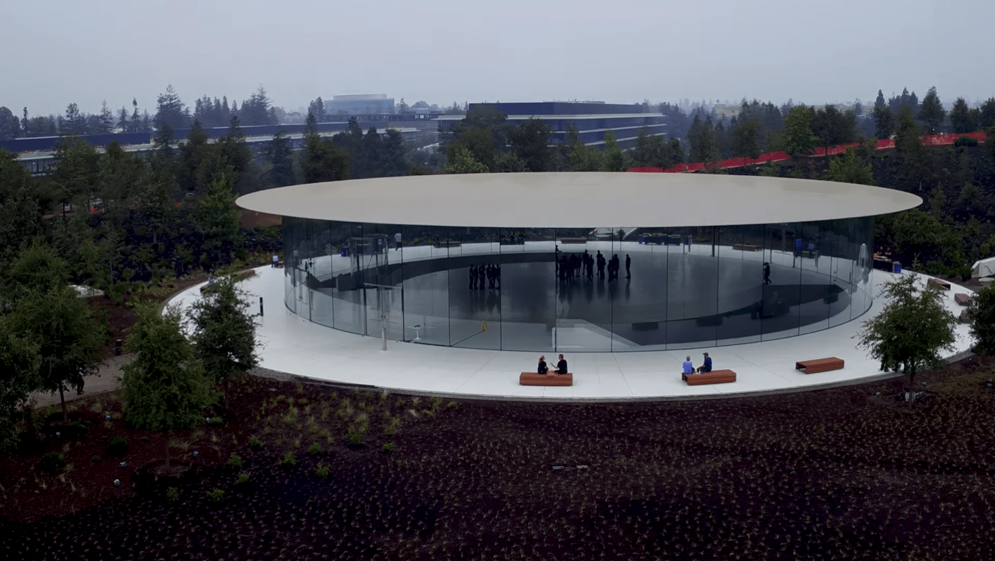 Steve Jobs Theater Coming Clost to Completion