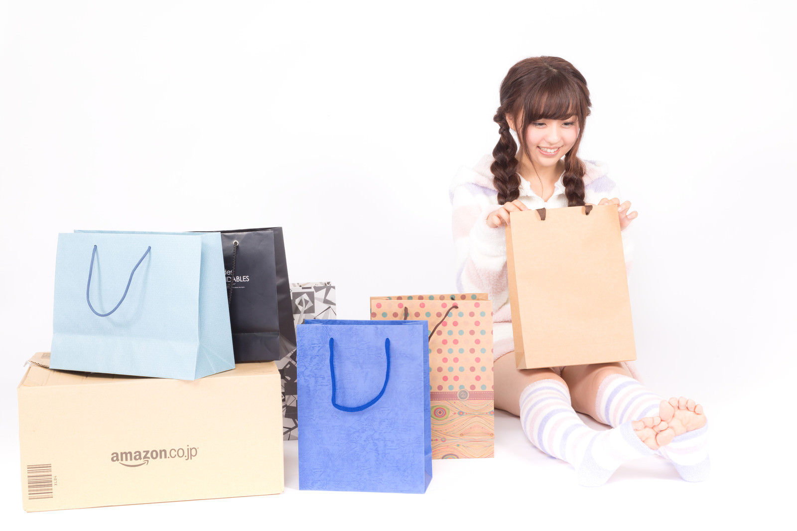 Yuka Happy with presents