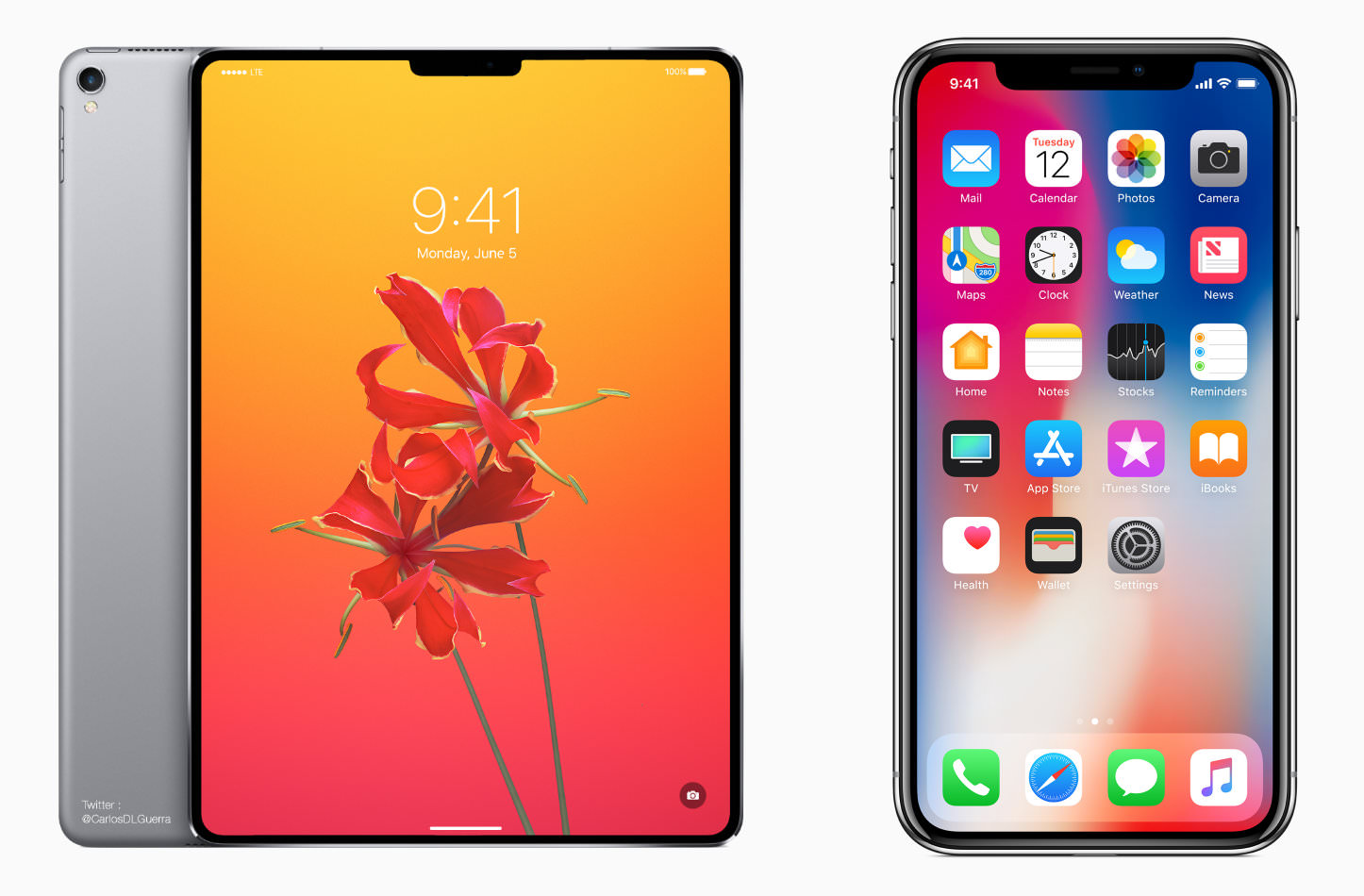 Iphone x and ipad pro x