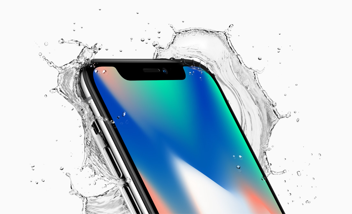 Iphonex front crop top corner splash