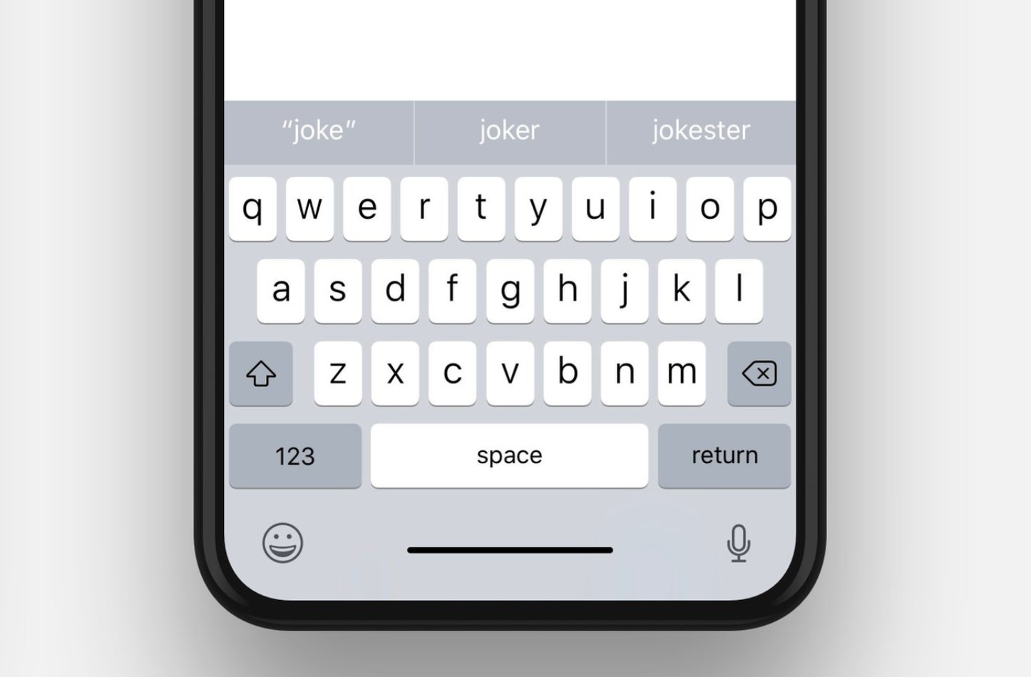 Iphonex keyboard image
