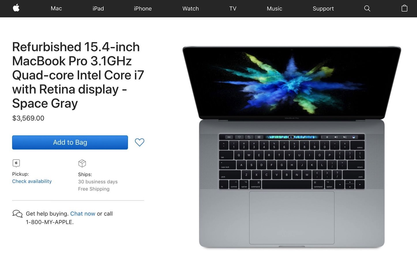 Apple MacBookPro2017 15inch