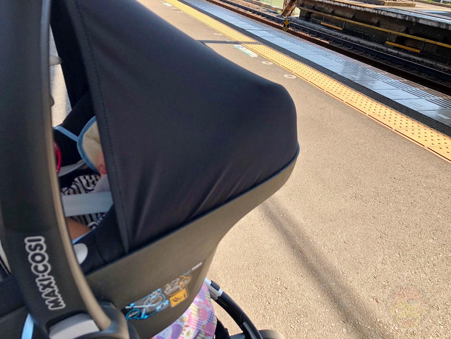 娘と初電車、乗車中は周りへの気配りも重要【パパミーへの道】