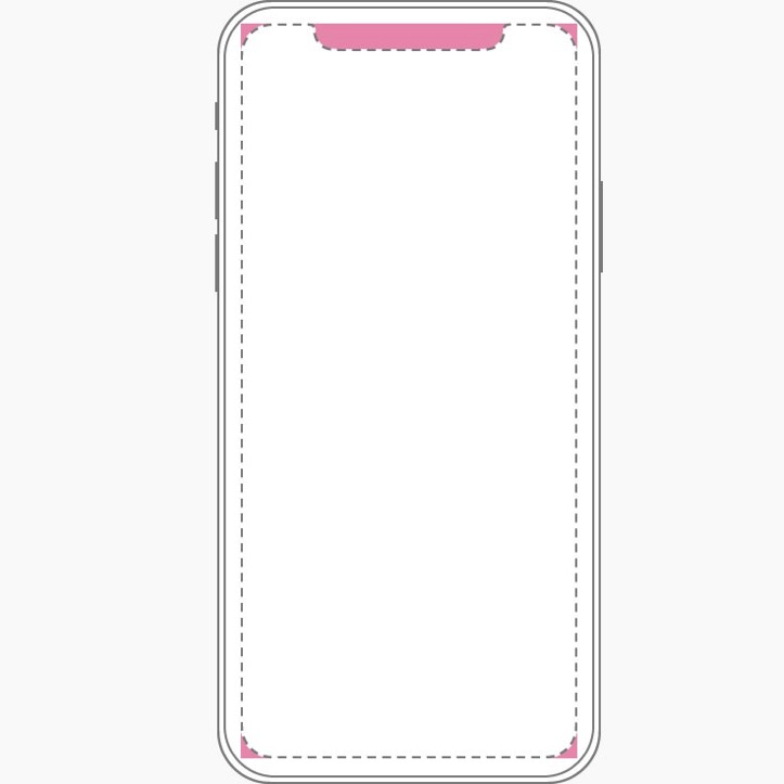 Sensor Housing and Rounded Corners iPhonex