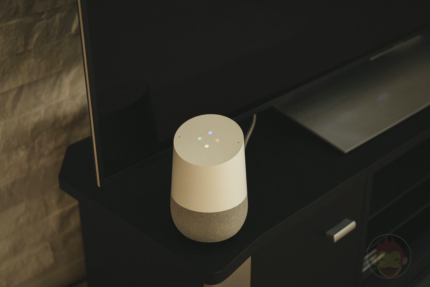 Google Home Next to TV