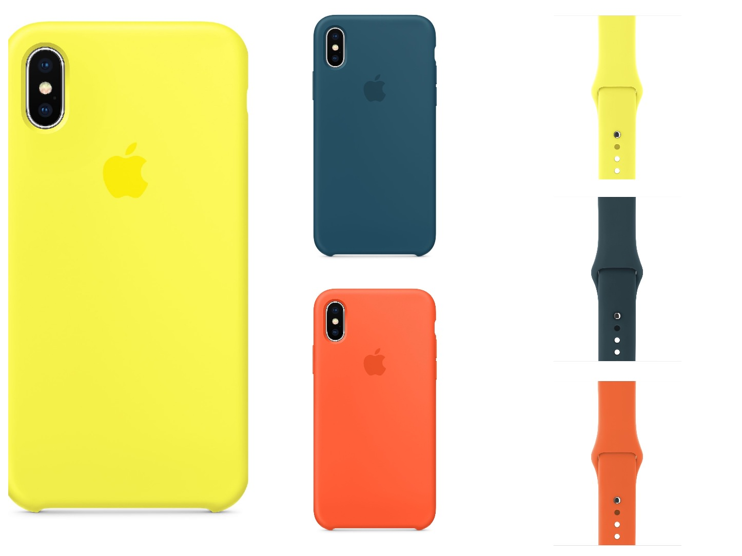 New iPhoneX Silicone Case and Watch Bands