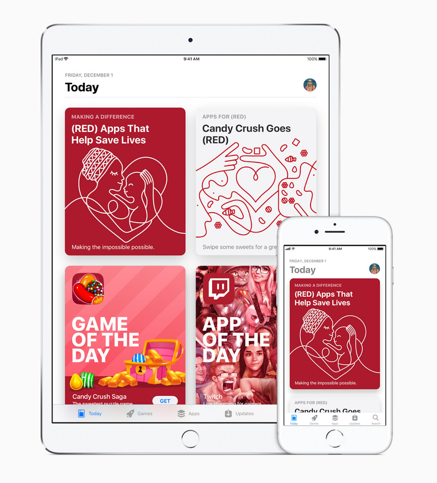 World aids day appstore red today 20171130