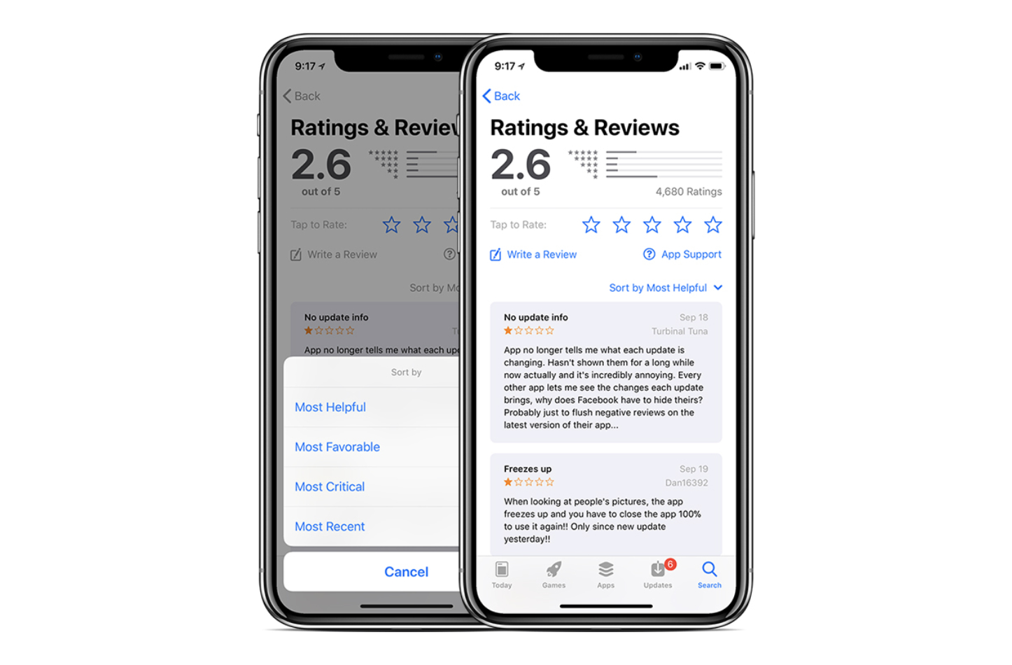 App Store Ratings for iOS11 3