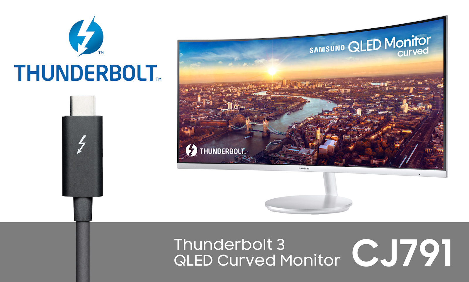 CJ791 Thunderbolt 3 QLED Curved Monitor 3