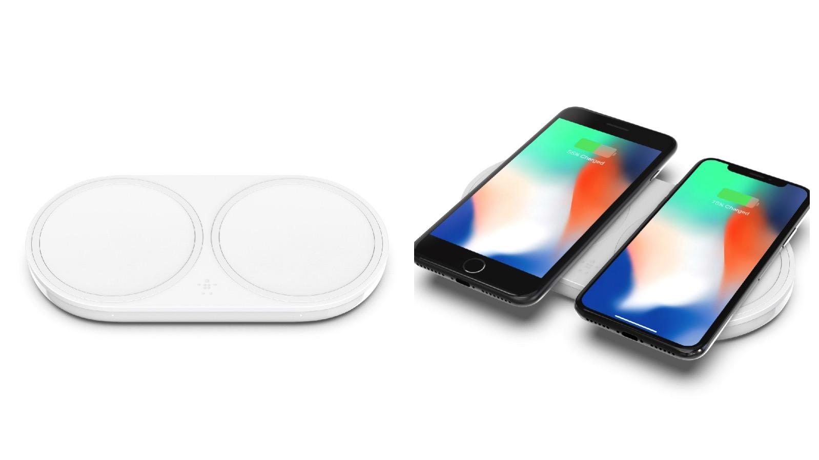 Dual Wireless Pad iPhone Top