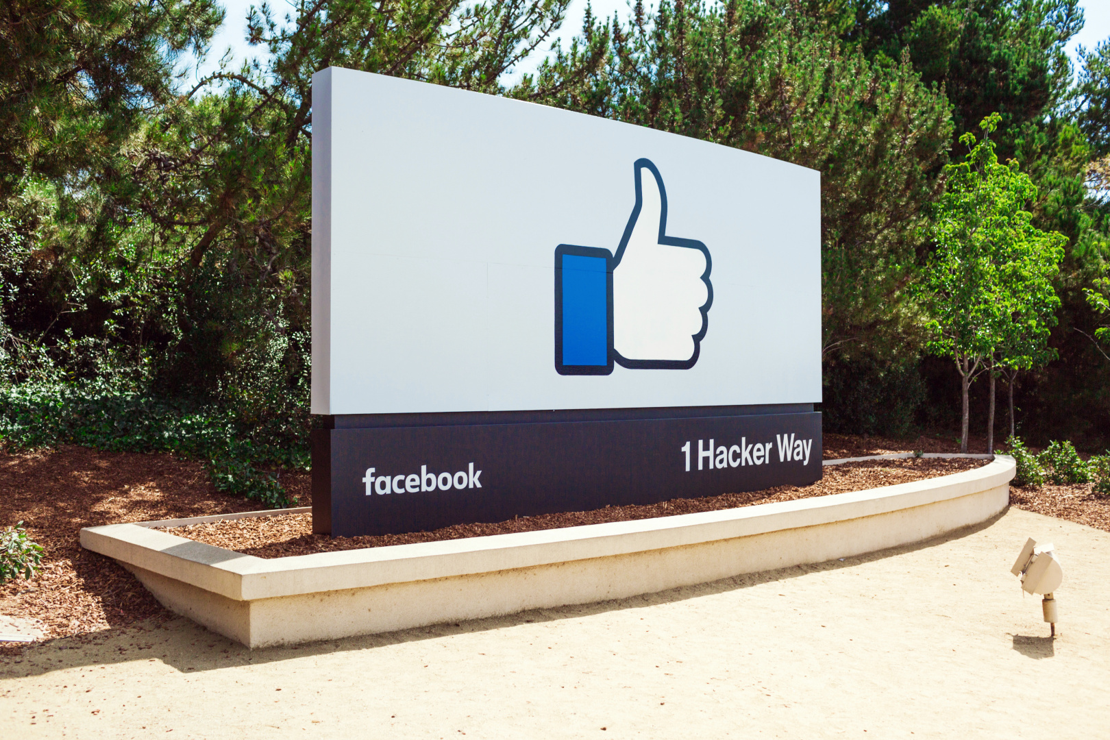 Facebook LIke Sign Campus