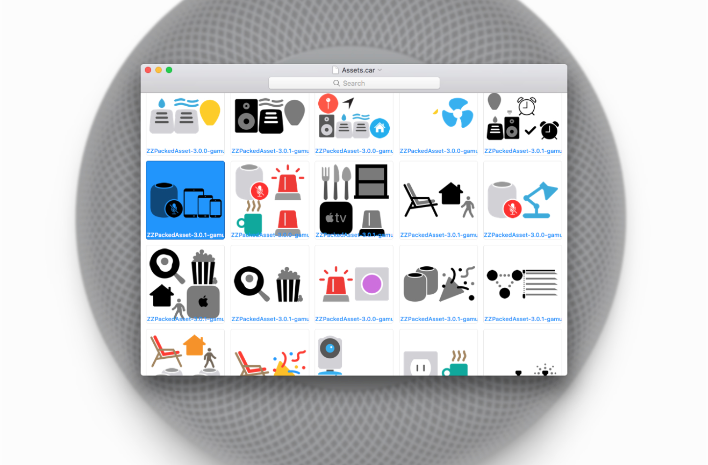 Homepod icons found in ios