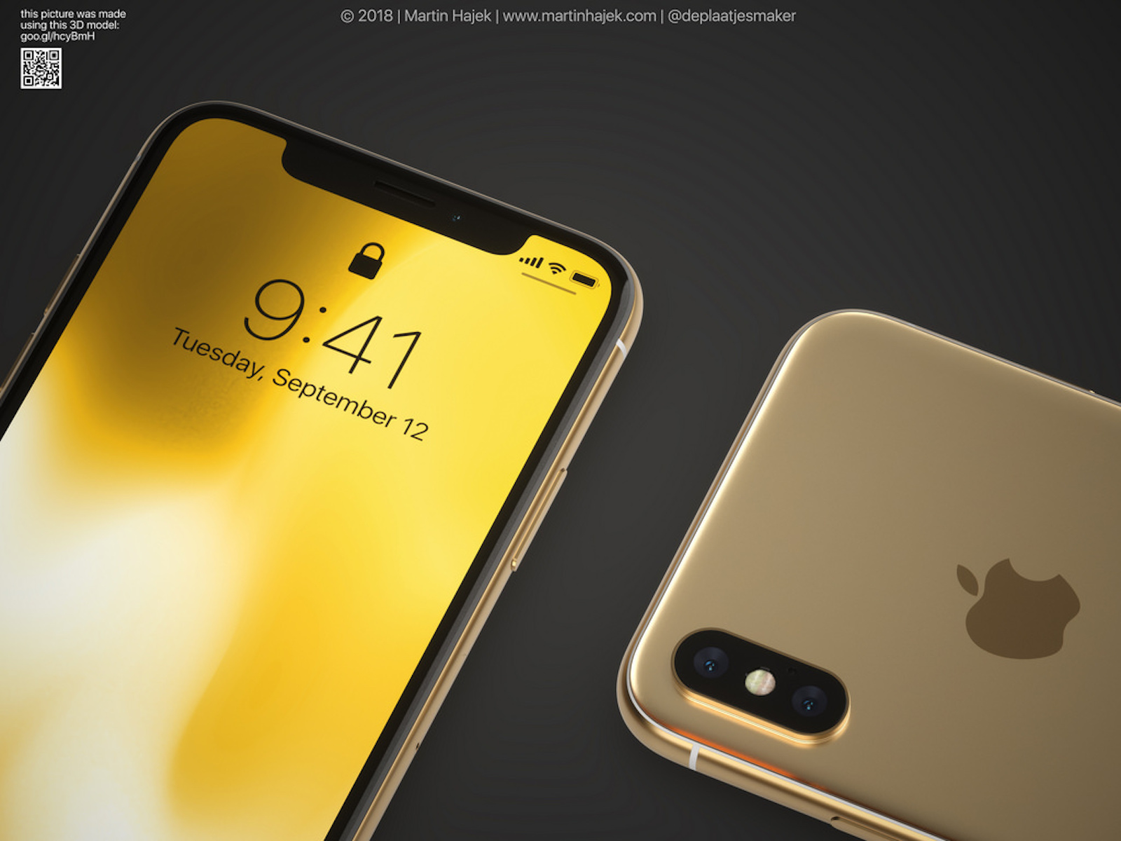 Gold iPhoneX and iPhoneXPlus 1