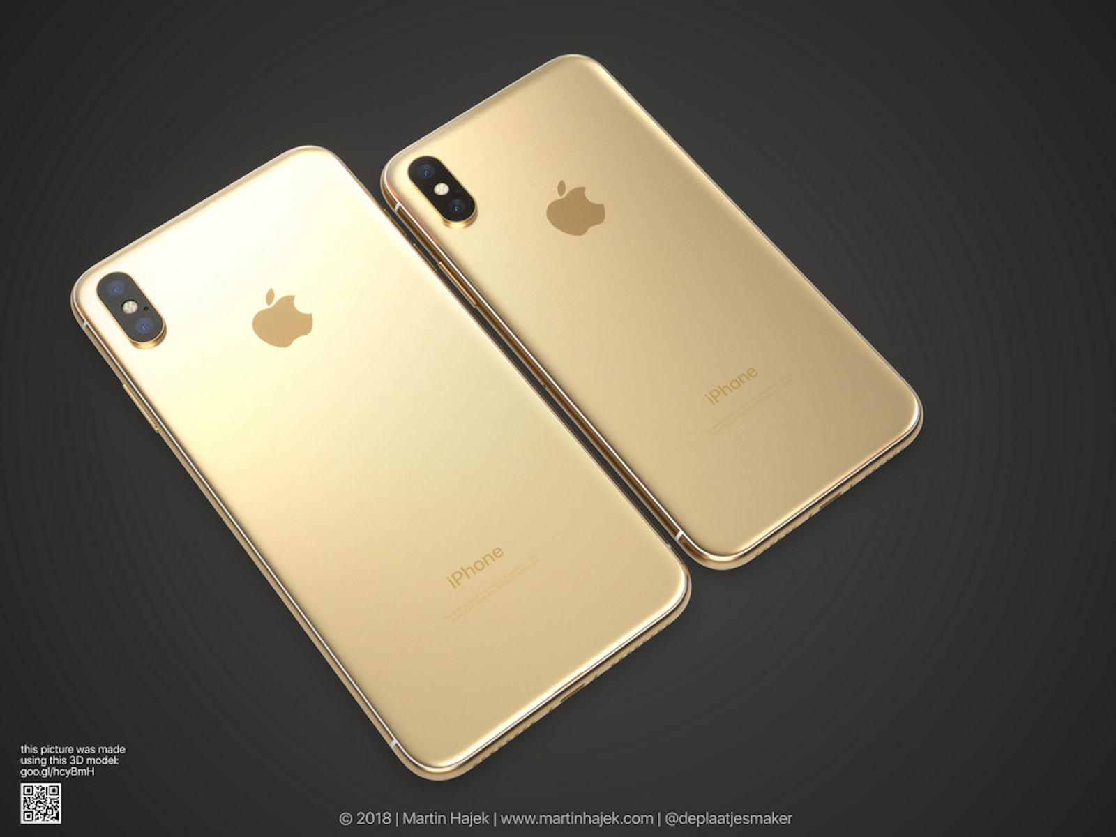 Gold iPhoneX and iPhoneXPlus 2