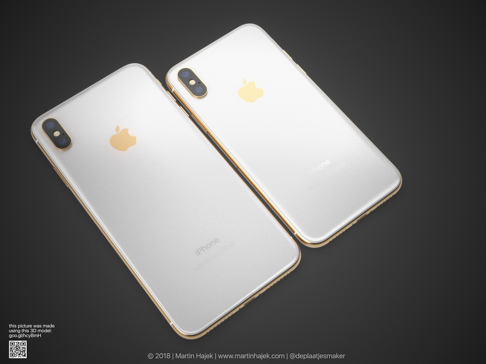 Gold iPhoneX and iPhoneXPlus 4