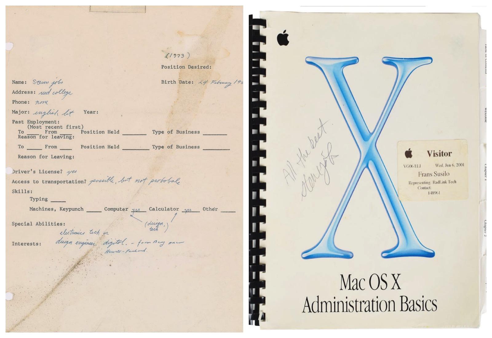 Steve Jobs Autograph Newspapers