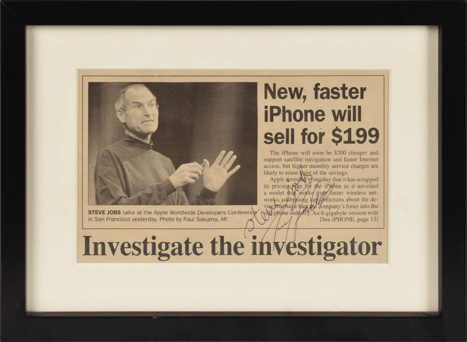 Steve Jobs Newspaper
