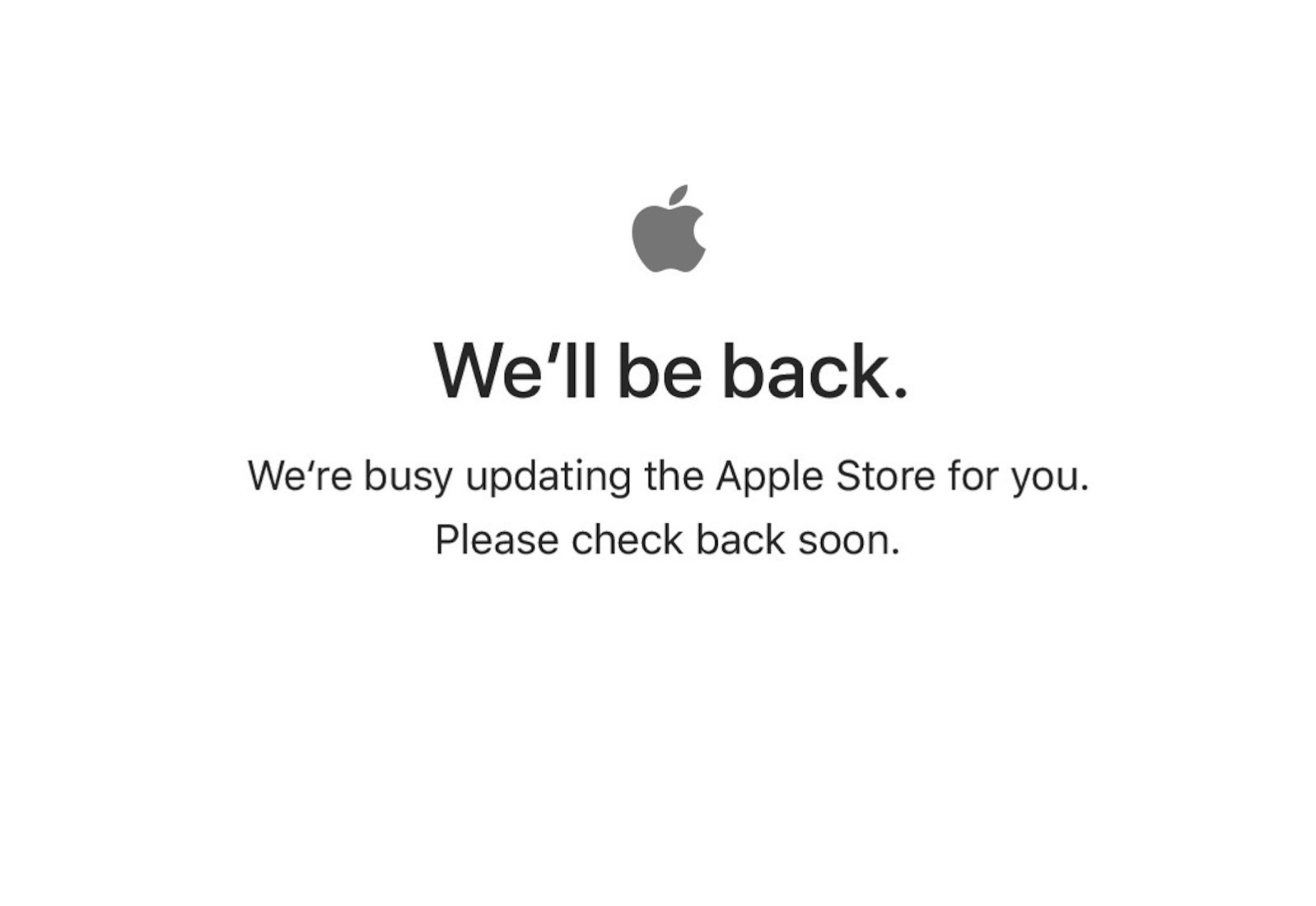Apple Store down for event