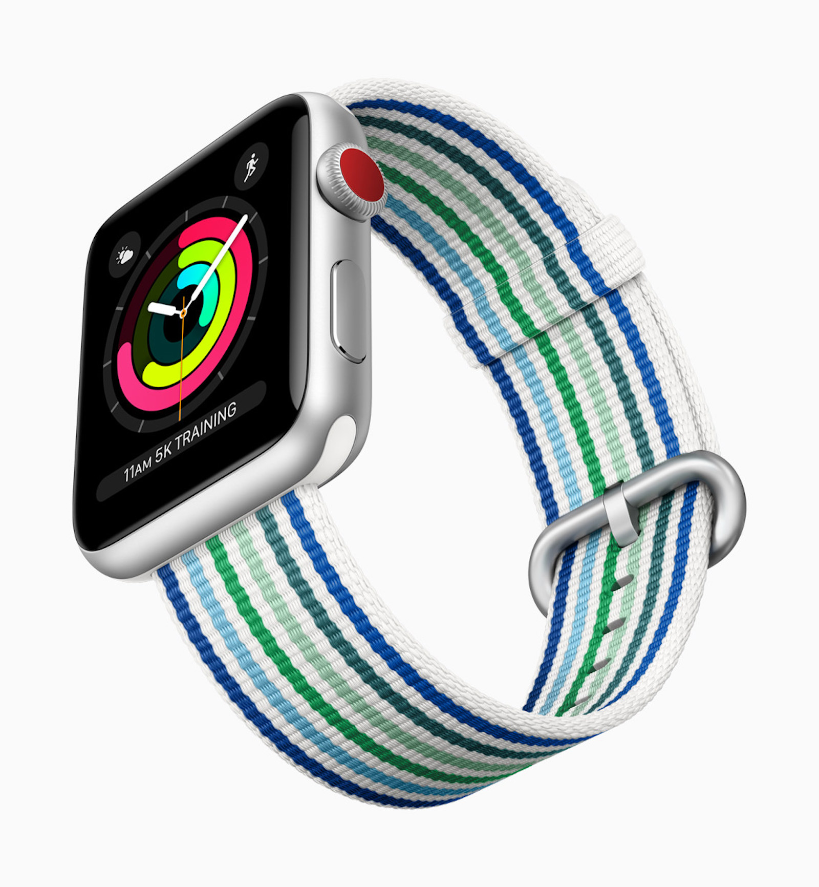 Apple Watch Series3 spring woven bands stripes 032118