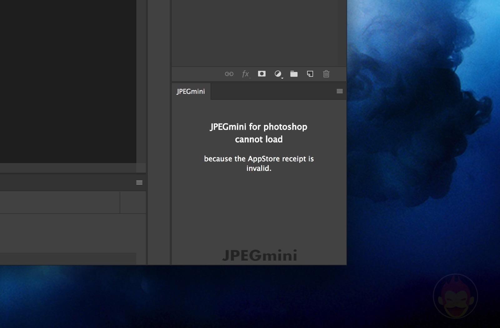 JPEGmini Plugin for photoshop error 05