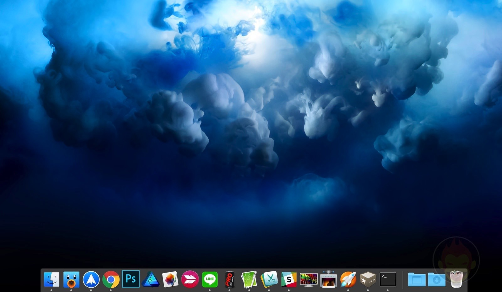 Showing only running apps on macos dock 01