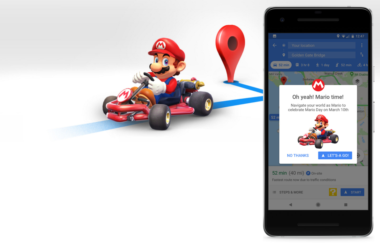 Super Mario Cart collab with Google Maps
