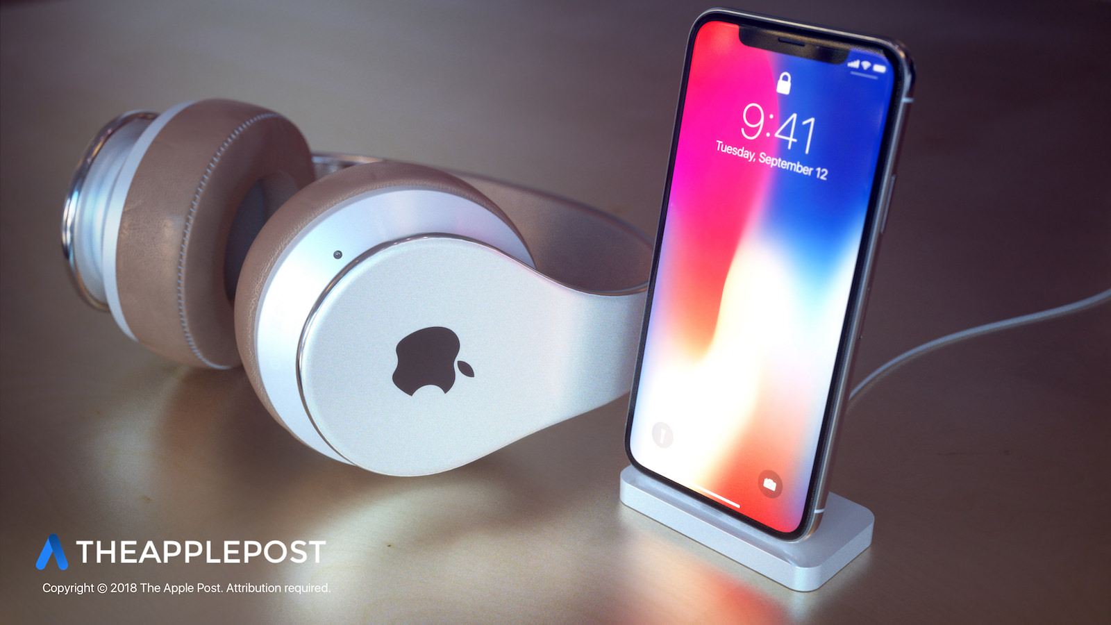 The Apple Post Apple Headphones 4B