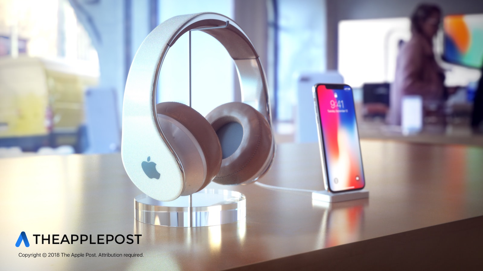 The Apple Post Apple Headphones