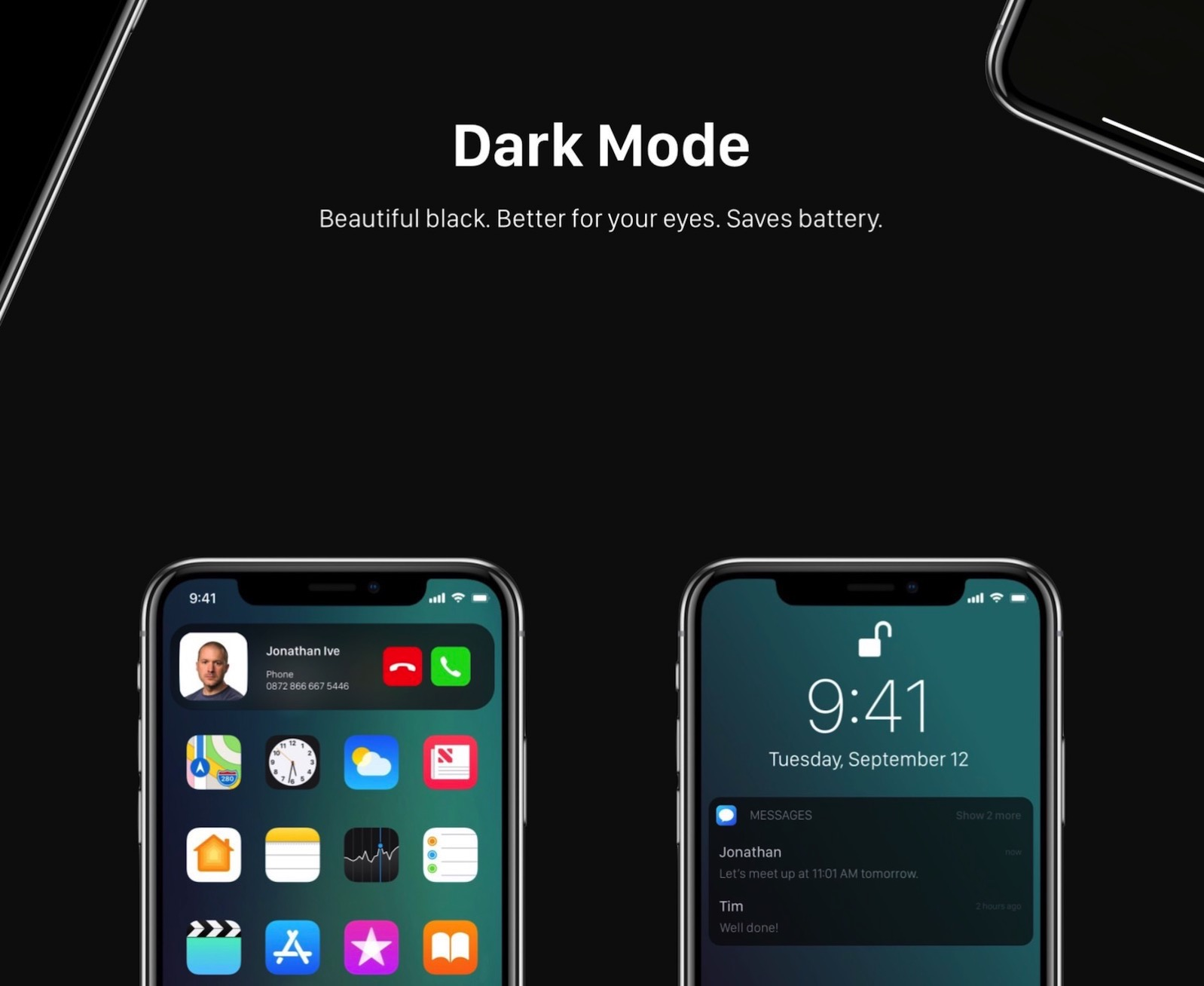 IOS12 Dark Mode 2