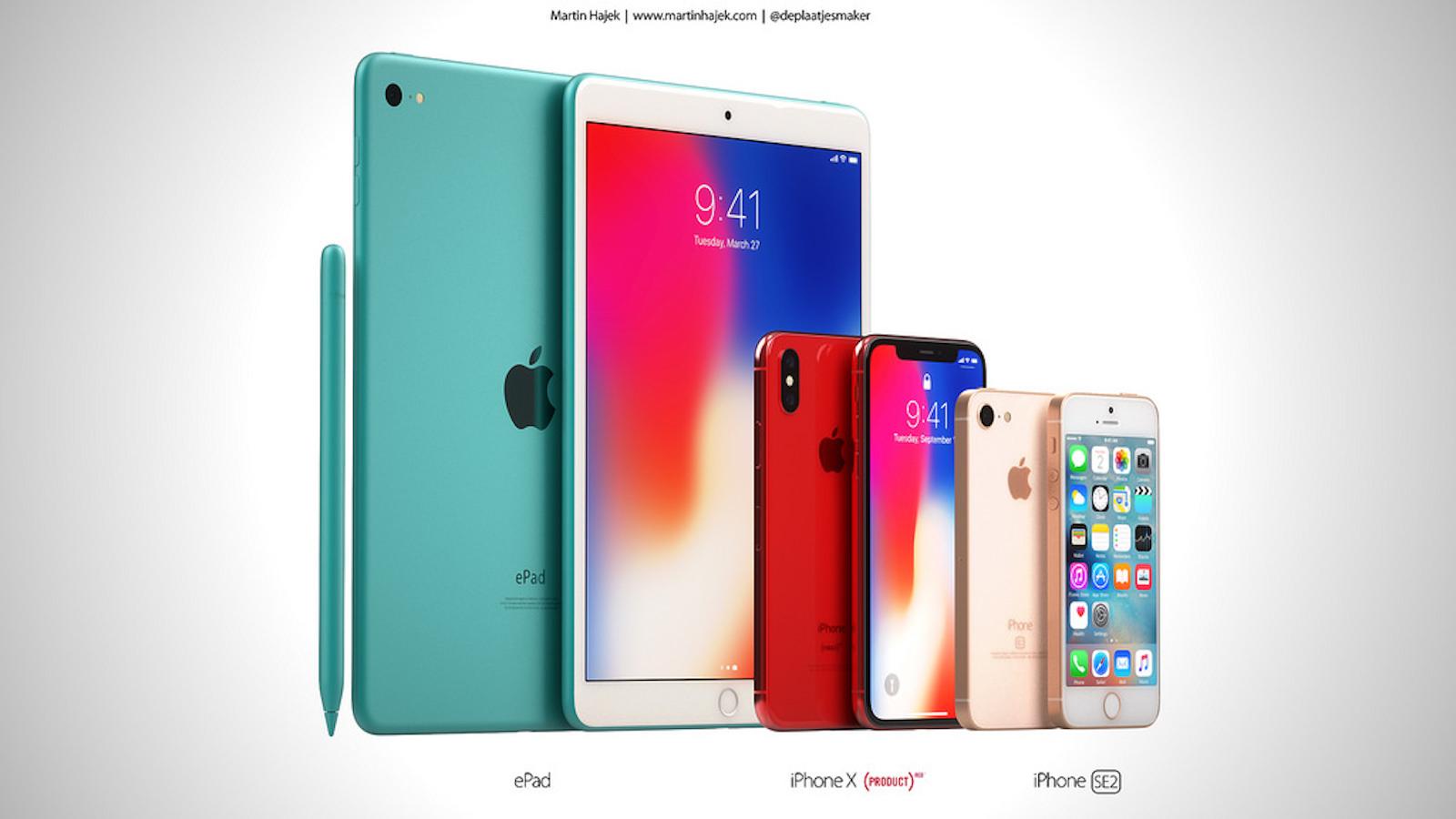 Iphonese2 iphonex red new ipad concept 1