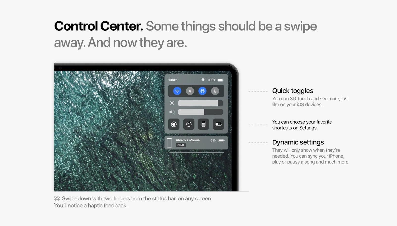 MacOS11 concept control center