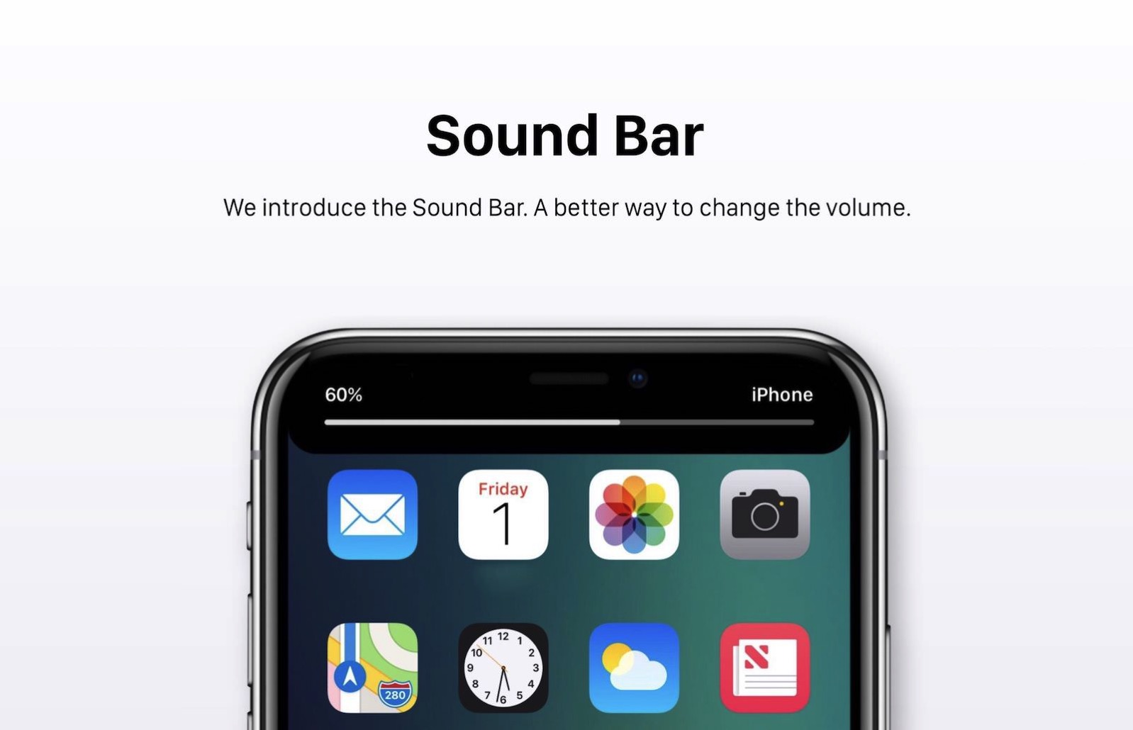 Sound bar ios 12