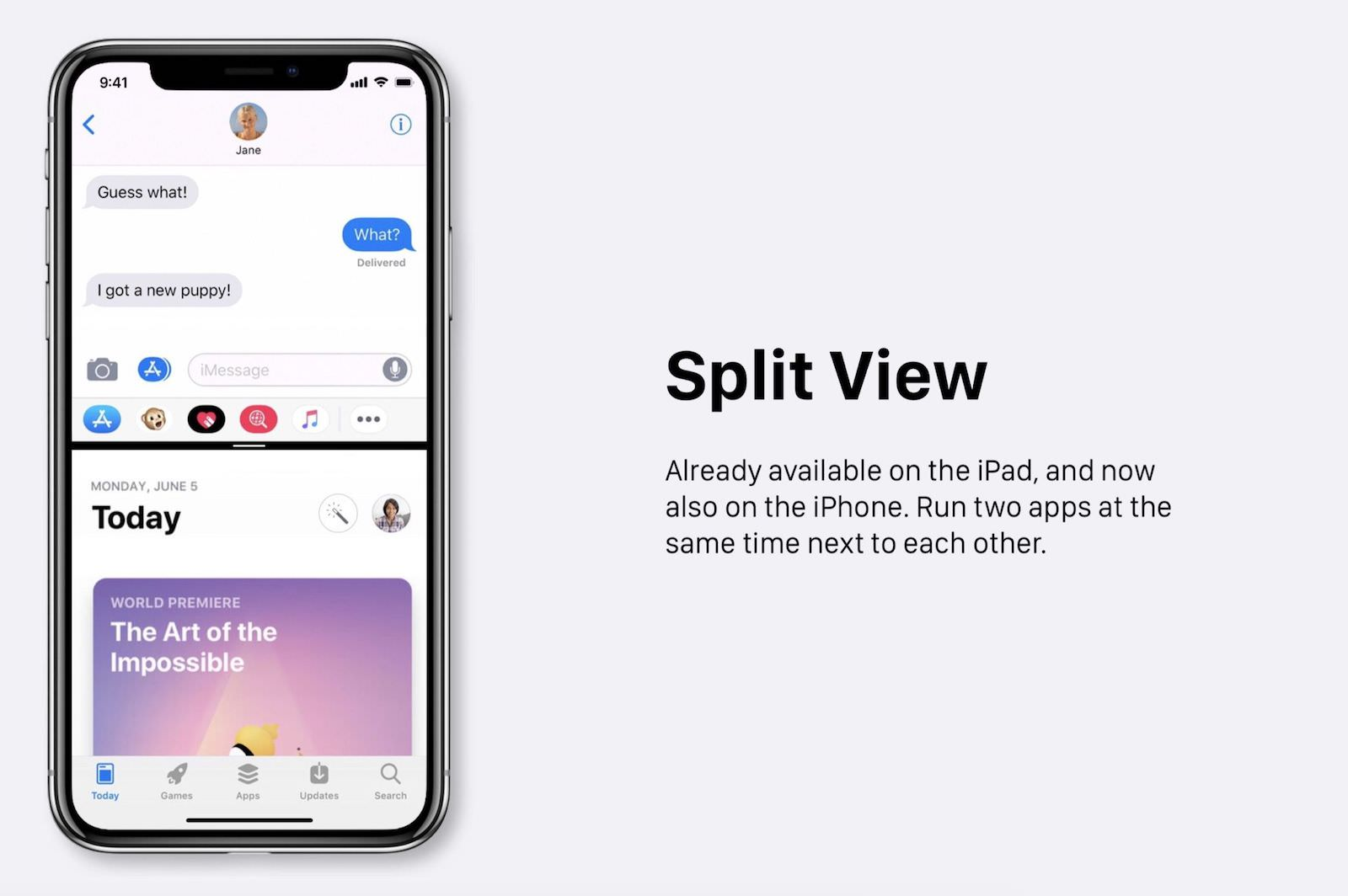 Split view ios 12