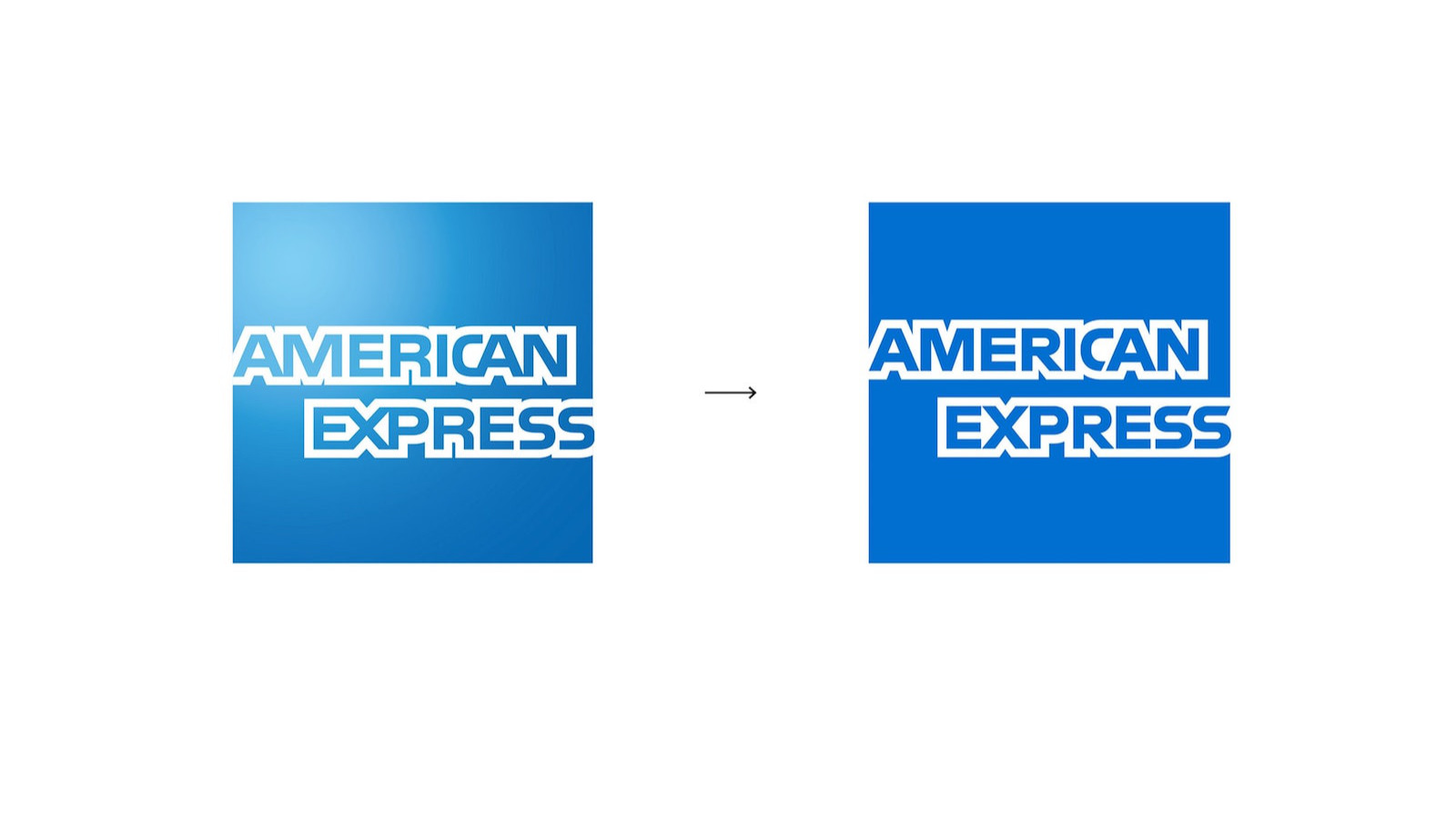 American Express Logo Change in 40 years
