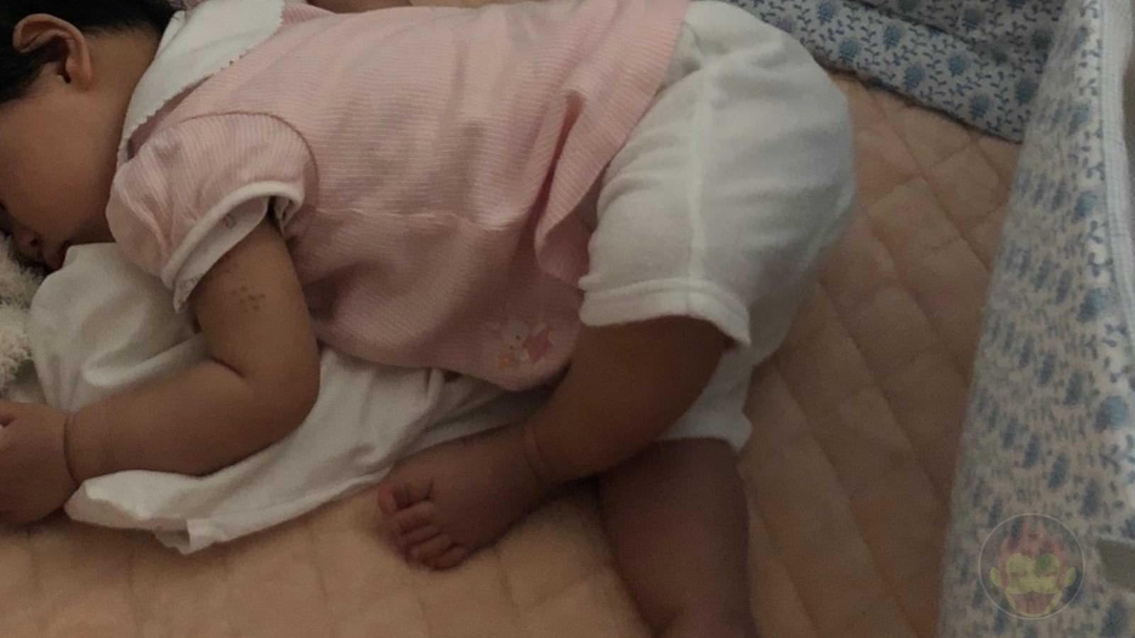 Angel is asleep very strangely 2