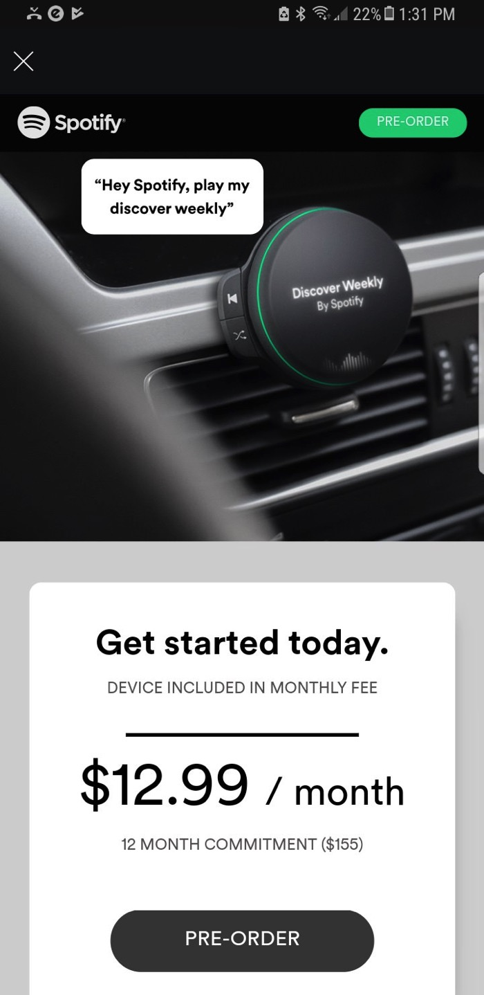 Spotify Car Hardware