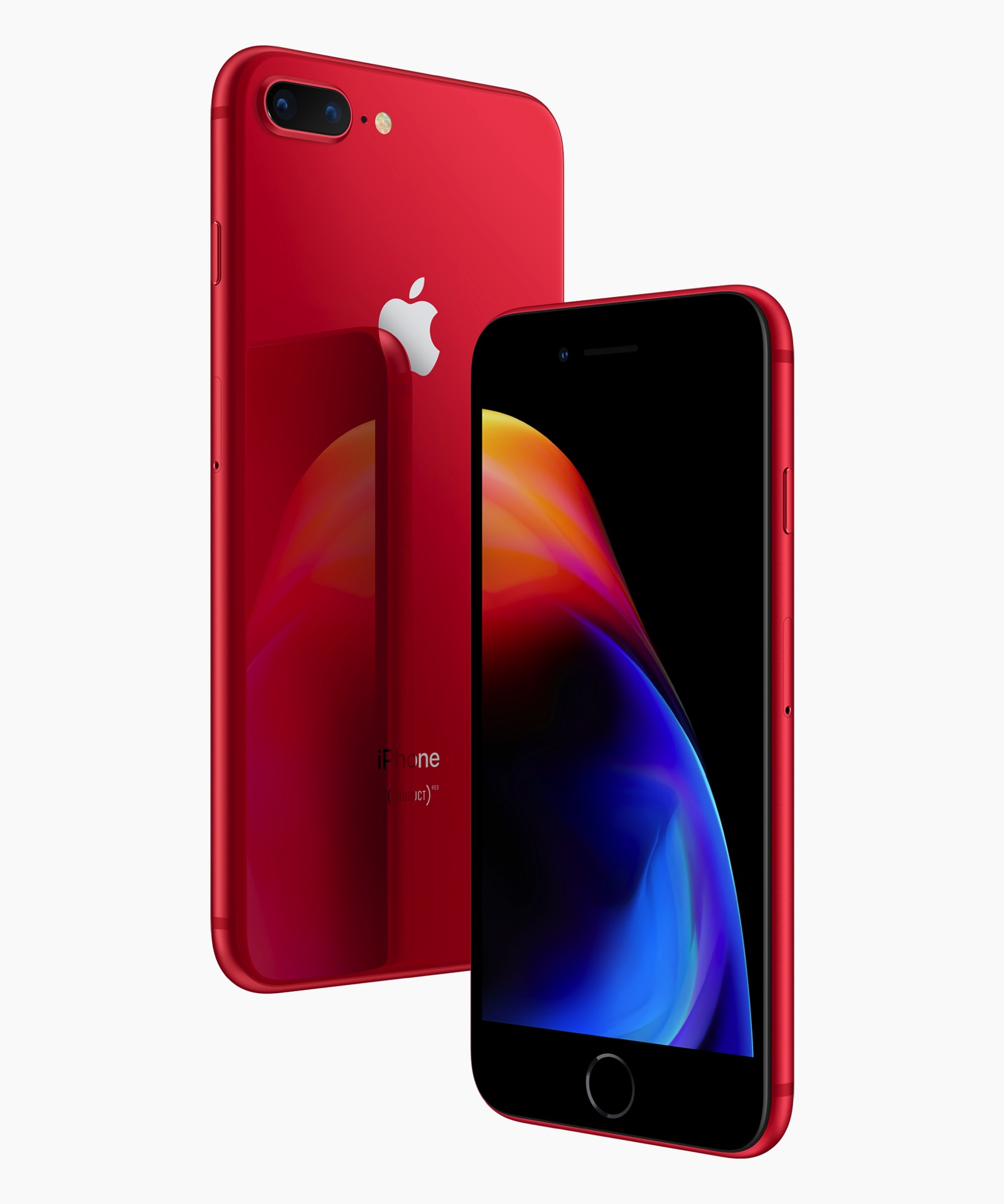 IPhone8 iPhone8PLUS PRODUCT RED front back 041018