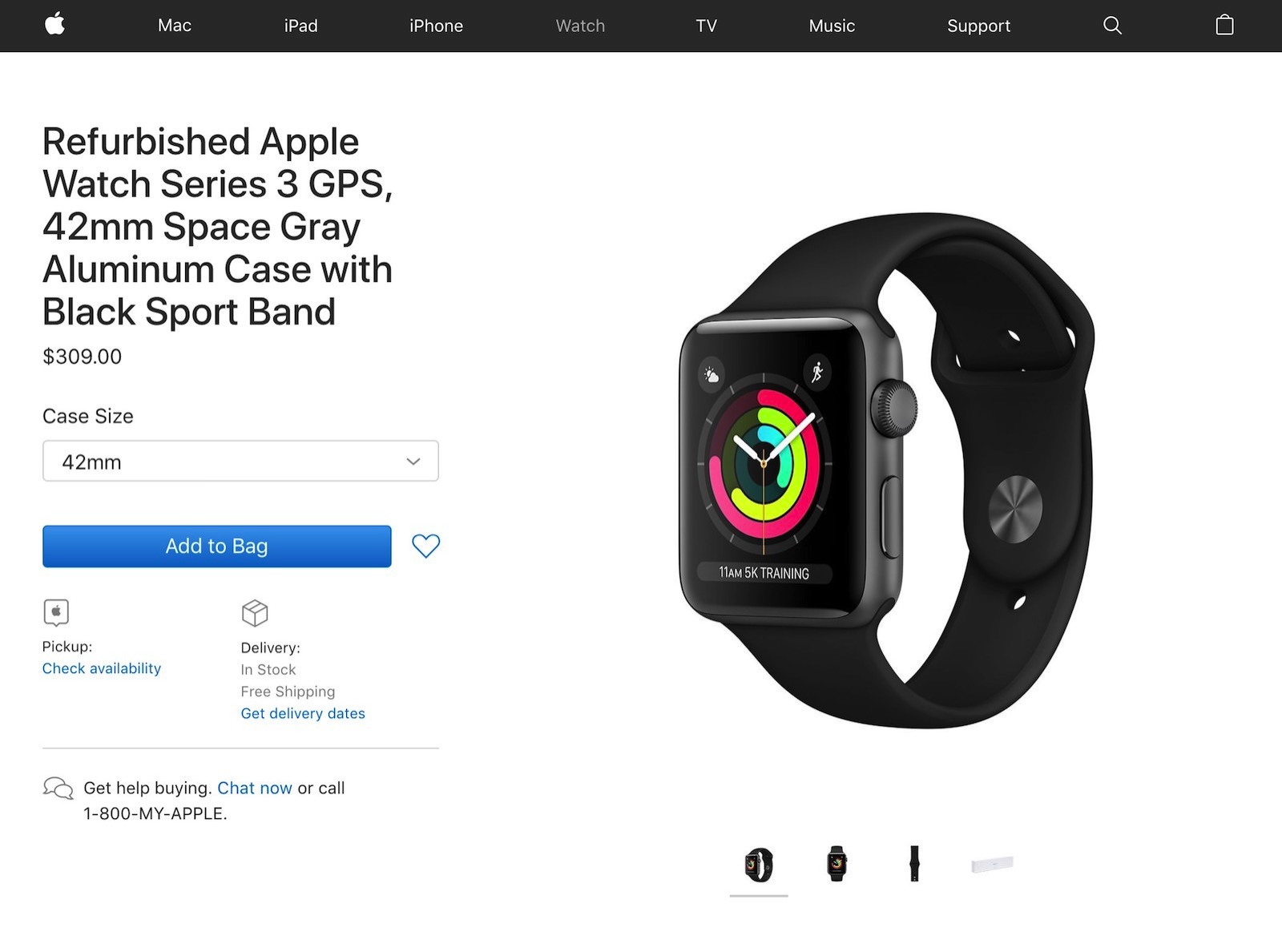 Apple Watch Series3 LTE Refurbished 1